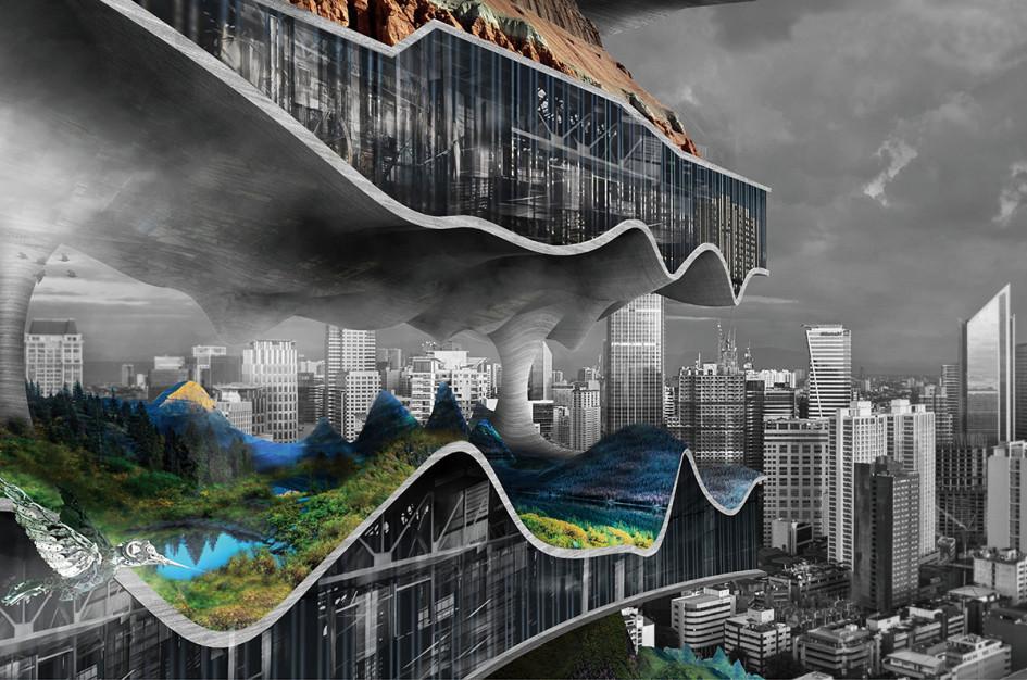 Проект Тяньшу Лю иЛиньшень Се призван решить нетолькопроблему транспорта, нои вопрос утилизации мусора. Нижние уровни будущего небоскреба планируется построить изотходов, накопившихся вМаниле иокрестностях. В дальнейшем отработанные материалы, остающиеся отзаводов, пойдут наобустройство природных слоев междуфабриками
