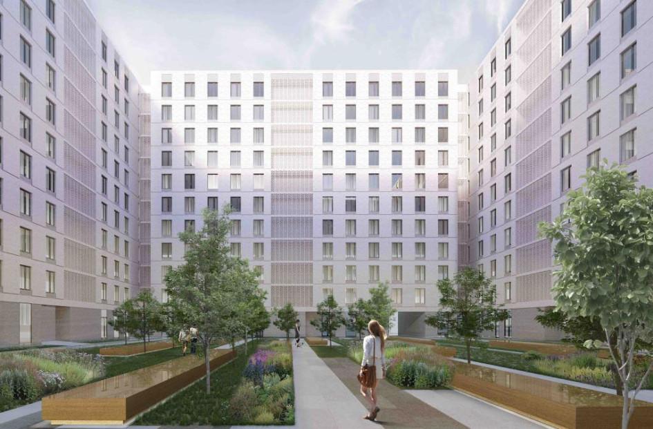 Реализация жилого комплекса предполагается одновременно с работами по объектам спортивного комплекса