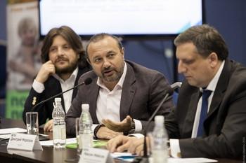 Блажей Райсс (TPV CIS), Дмитрий Морозов (BIOCAD), Максим Мейксин (Комитет по промышленной политике и инновациям Санкт-Петербурга)