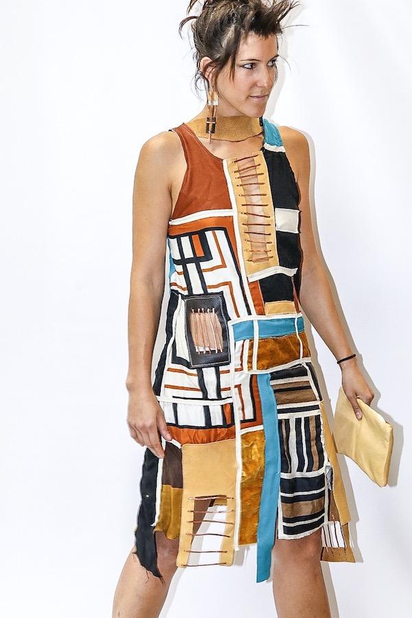 Платье «Куб Рубика», победитель в номинации «готово к носке»