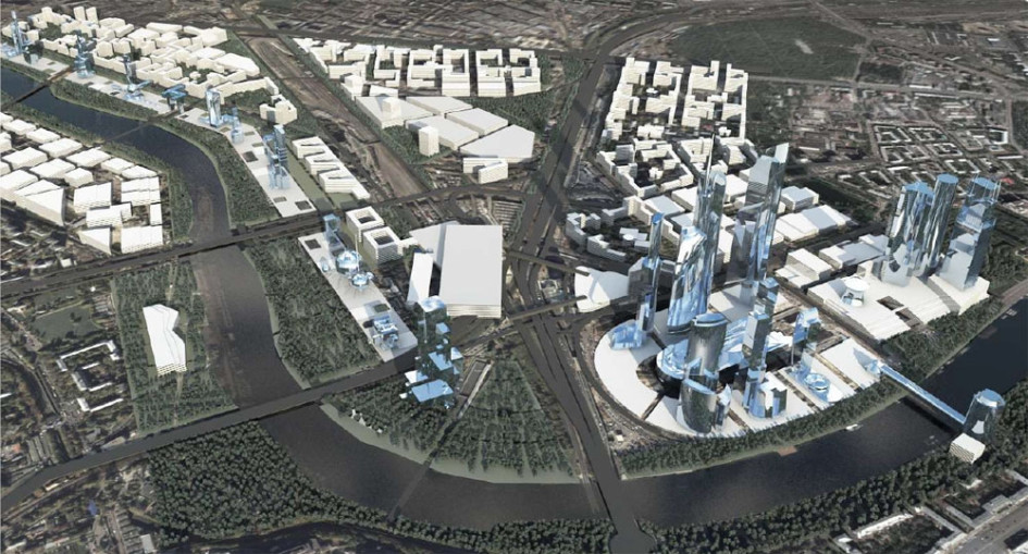 Проект парламентского центра в Москва-Сити