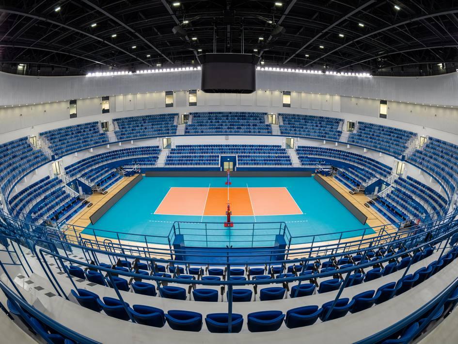 Спортивная волейбольная арена