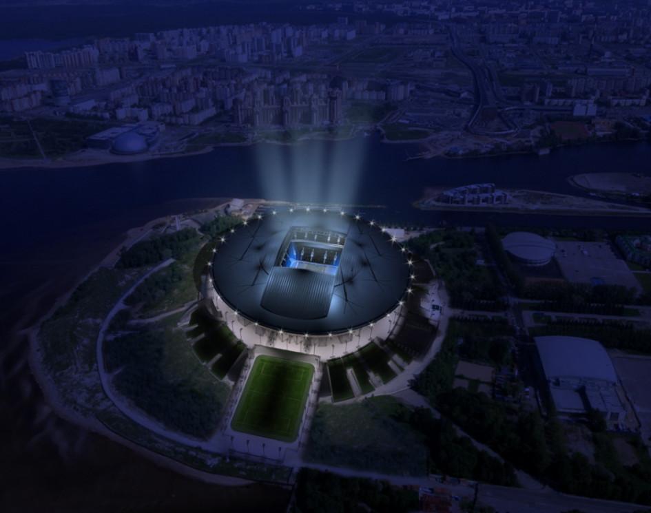 Рендер строящегося петербургского стадиона