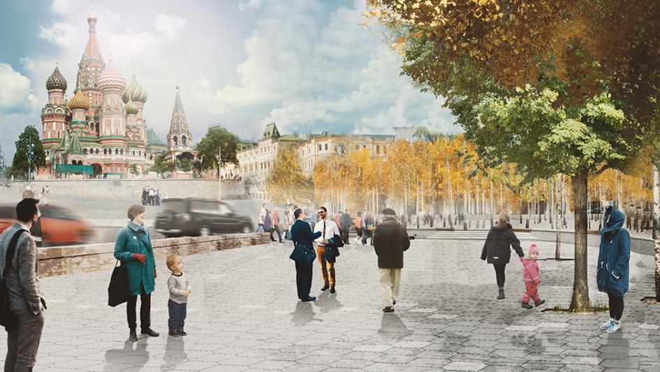 Новая площадь на пересечении Варварки и Москворецкой улицы