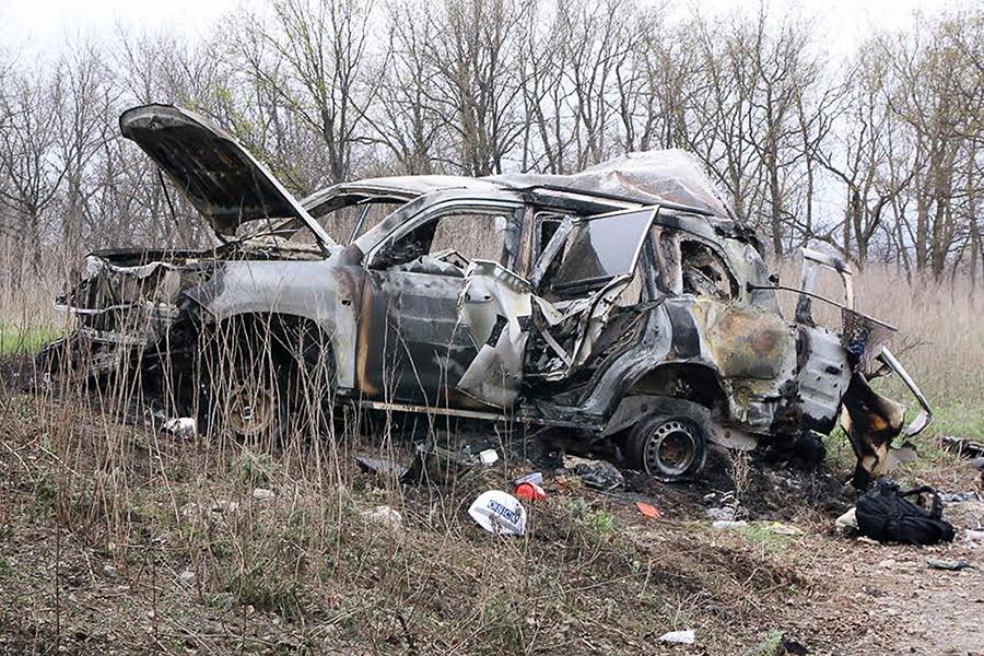 Автомобиль, при подрыве которого погиб Сотрудник специальной мониторинговой миссии ОБСЕ
