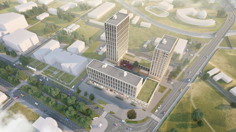 Проект многофункционального жилого комплекса с гостиницей в Грозном