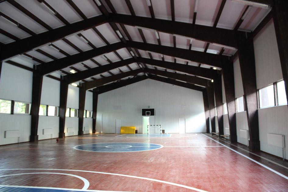 Спортивный зал школы в г. Собинка. Законченный вид