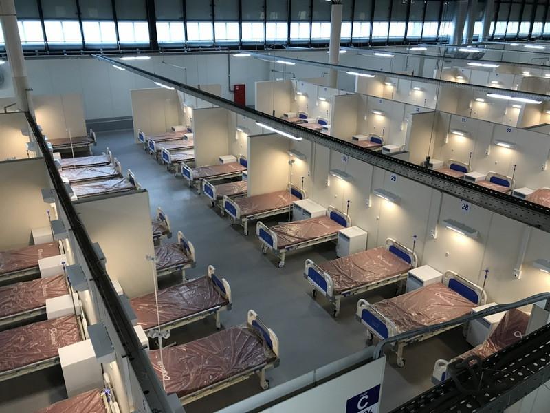 Временный госпиталь в Ленэкспов случае необходимости готов принять до 2500 пациентов с коронавирусной инфекцией