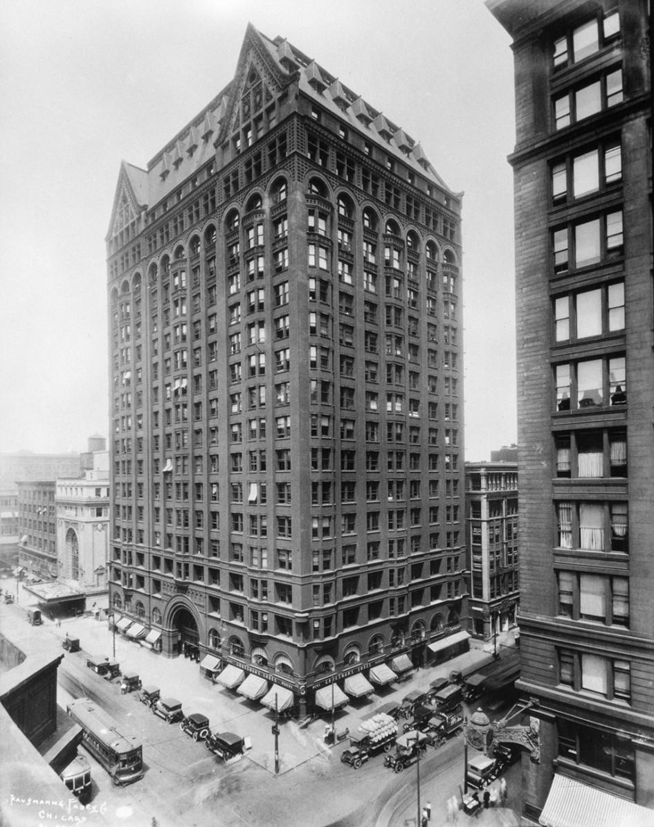 Фотография высотного здания в Чикаго, 1890-е годы