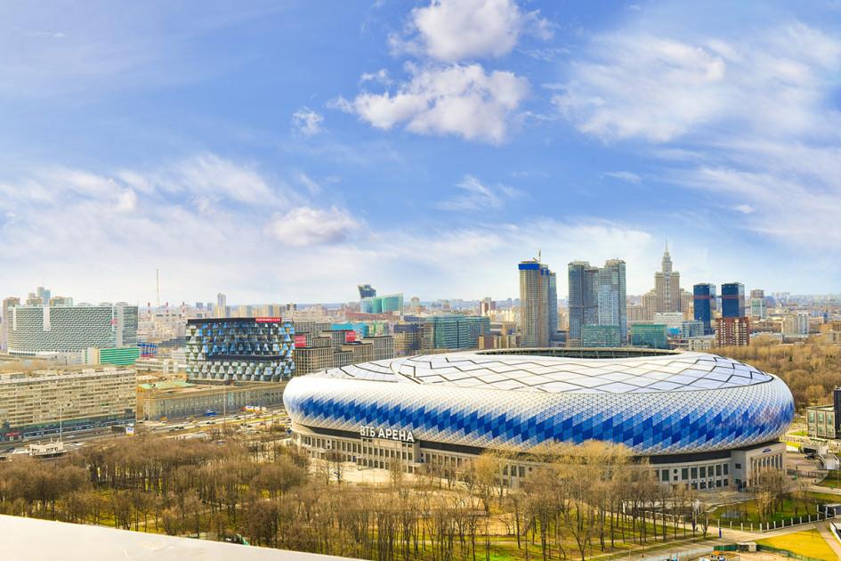 Вид на «ВТБ Арена— Центральный стадион «Динамо»