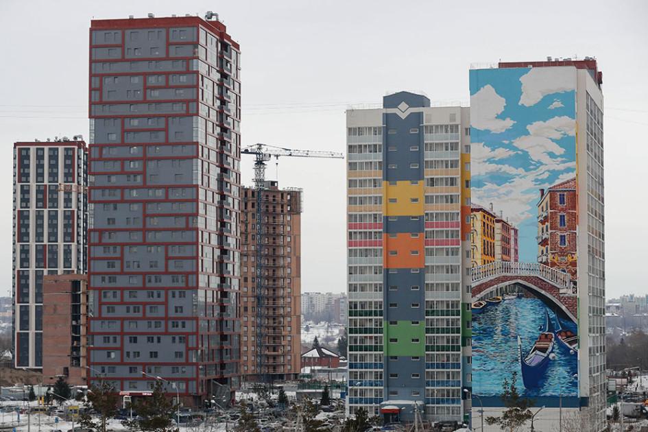 Строительство жилых комплексов в Ленинском районе Новосибирска