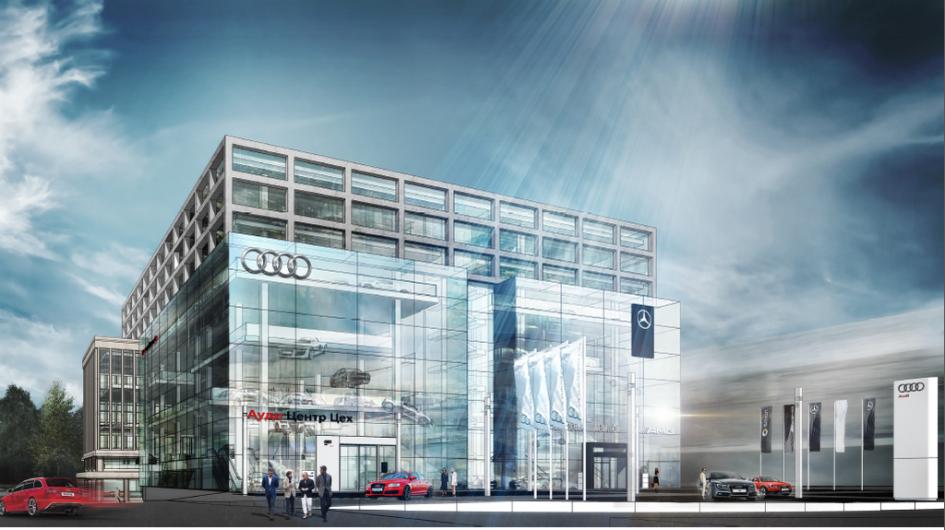 Фото: Из портфолио Kleinewelt Architekten: дилерский центр Audi и Mercedes-Benz на ЗИЛе