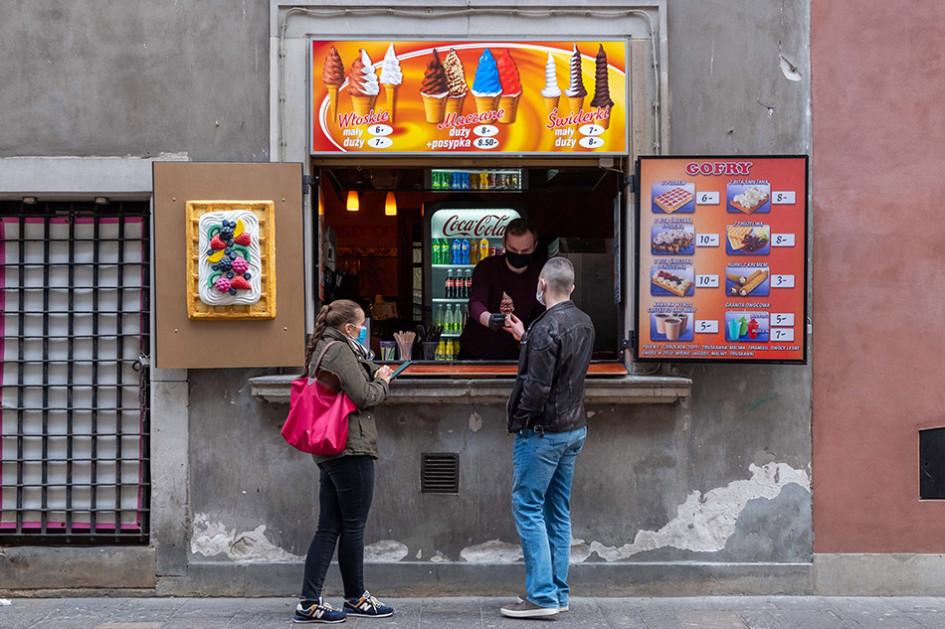 Ларек мороженого в Польше