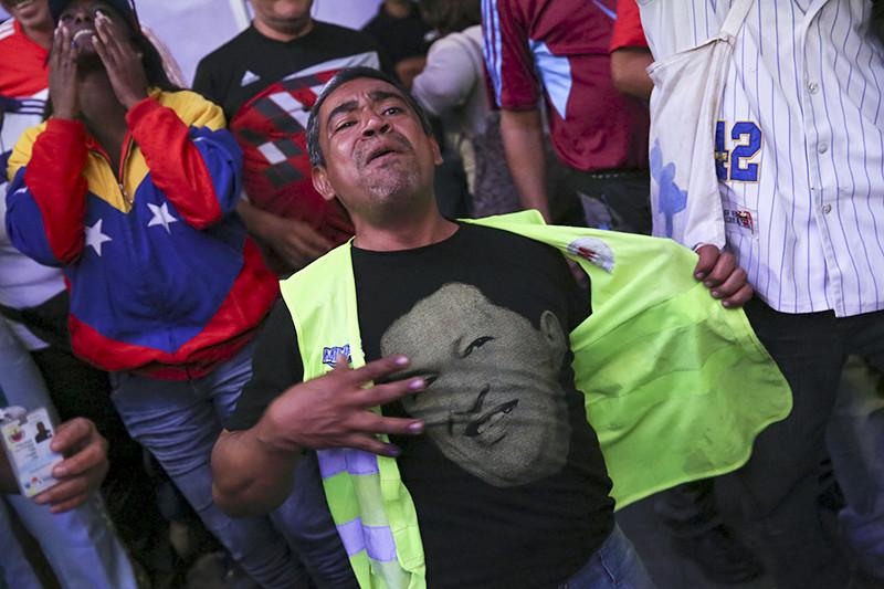 Сторонники президента Венесуэлы Николаса Мадуро