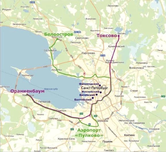 Предложенный РЖД проект организации городского железнодорожного пассажирского движения