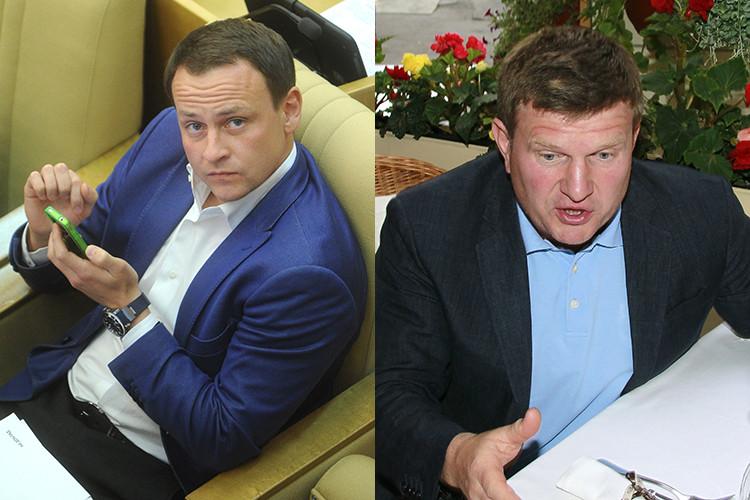Депутаты Госдумы Александр Сидякин и Олег Савченко (слева направо). Фото: ТАСС, РИА Новости