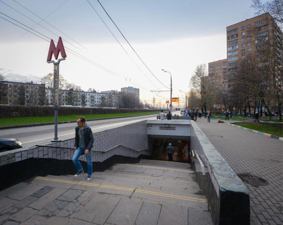 Вход на станцию метро «Кантемировская»