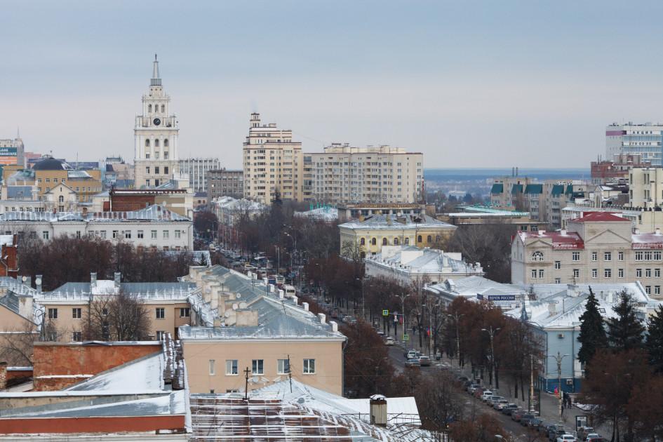 Вид на проспект Революции и исторический центр Воронежа