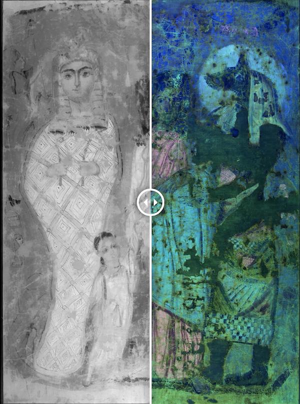 Фрагмент древнеегипетской росписи
