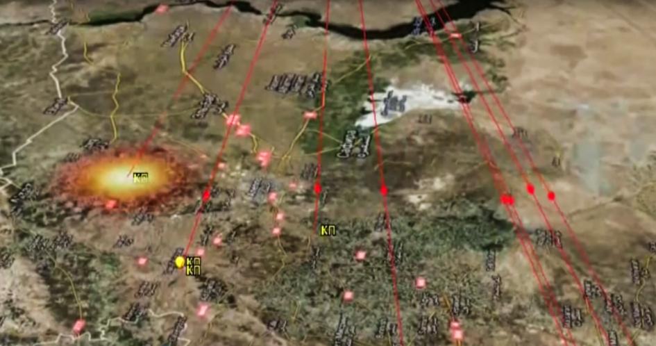 Схема целей ракетного удара