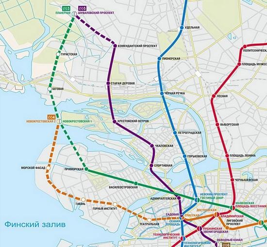 Новая схема метрополитена санкт петербурга фото 834