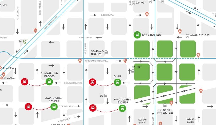 Фото: Urban Mobility Plan of Barcelona 2013-2018