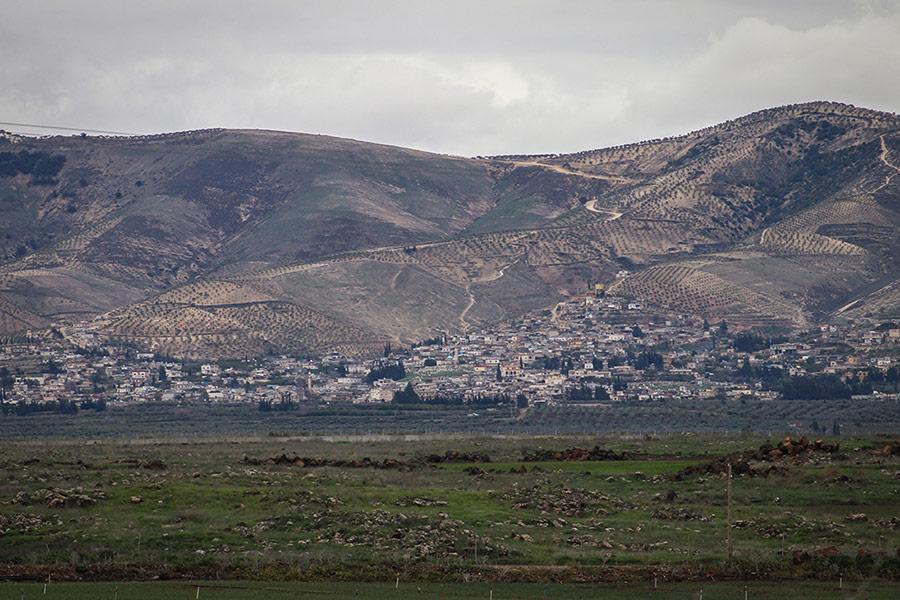 Вид на город Африн