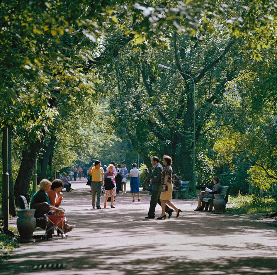В Центральном парке культуры и отдыха им. Горького. 1979 год