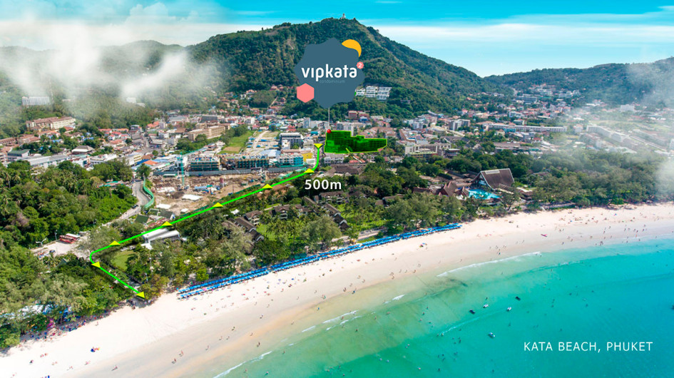 Жилой комплекс VIP KATA Condominium расположен в 500 м от пляжа Ката