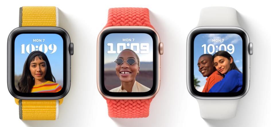 Портреты на заставке Apple Watch