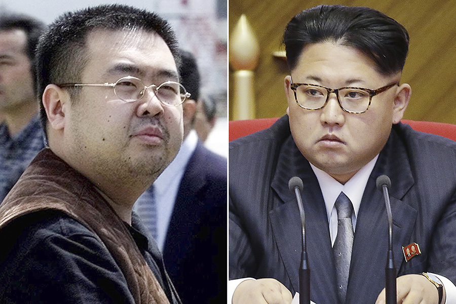 На фото слева: Ким Чен Нам.Япония. 2001 год. Справа: лидер Северной КореиКим Чен Ын.2016 год