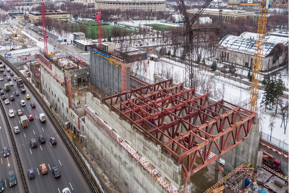 Строительство Международного центра самбо и бокса на территории олимпийского комплекса «Лужники»