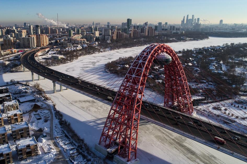 Вид на Живописный мост