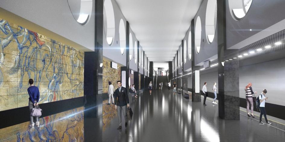 Проект станции «Электрозаводская» БКЛ