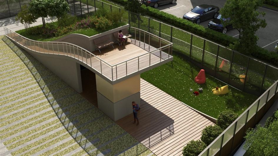 Внутренний двор вапарт-комплексе «Басманный, 5»