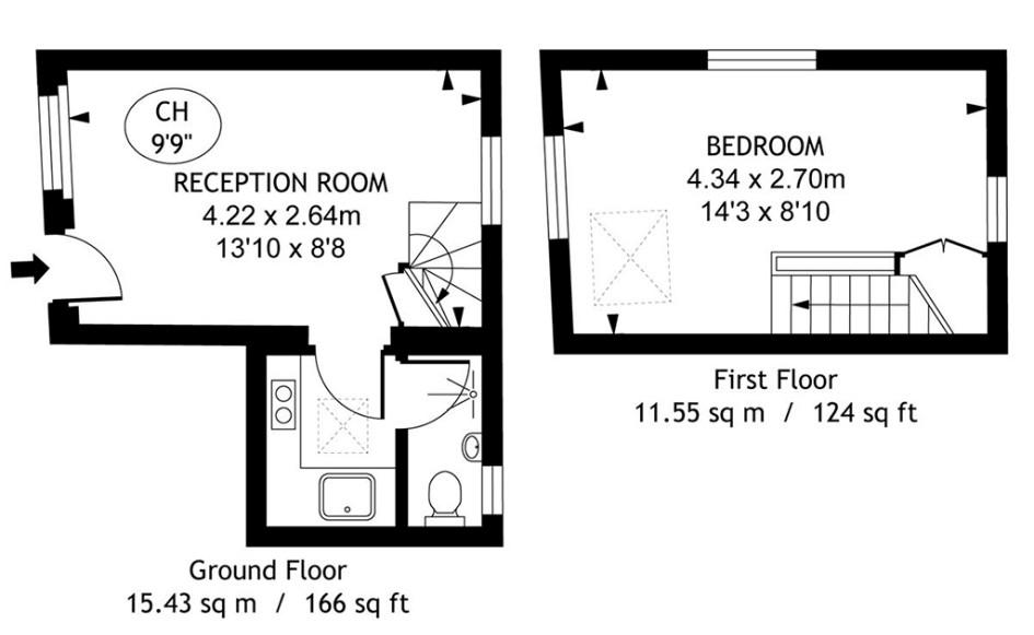 План двухэтажного особняка