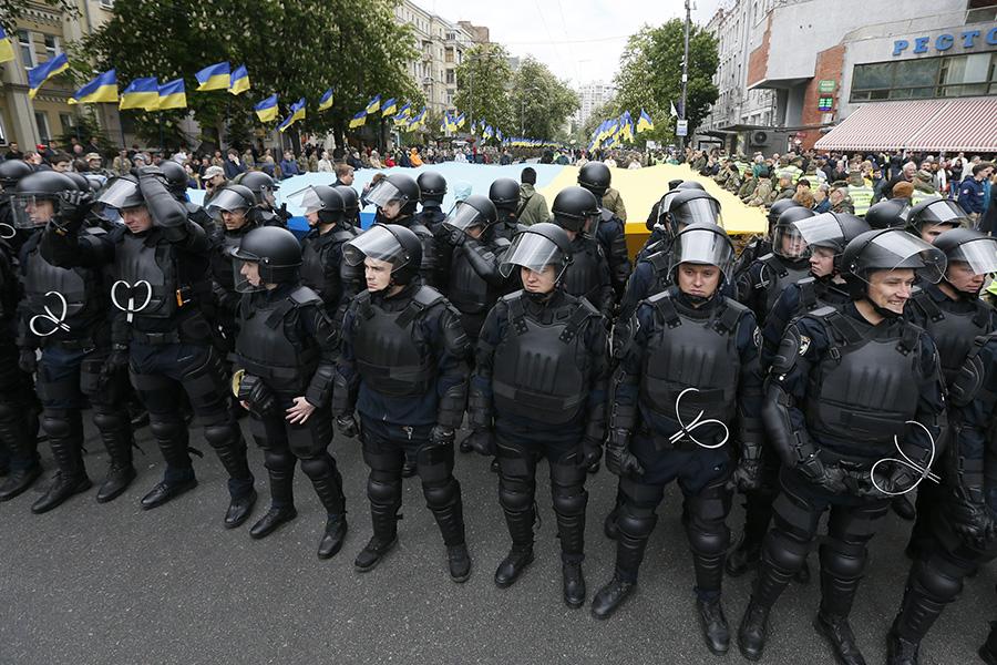 Полиция на улицах Киева