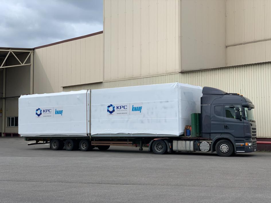 Транспортировка готовых модулей
