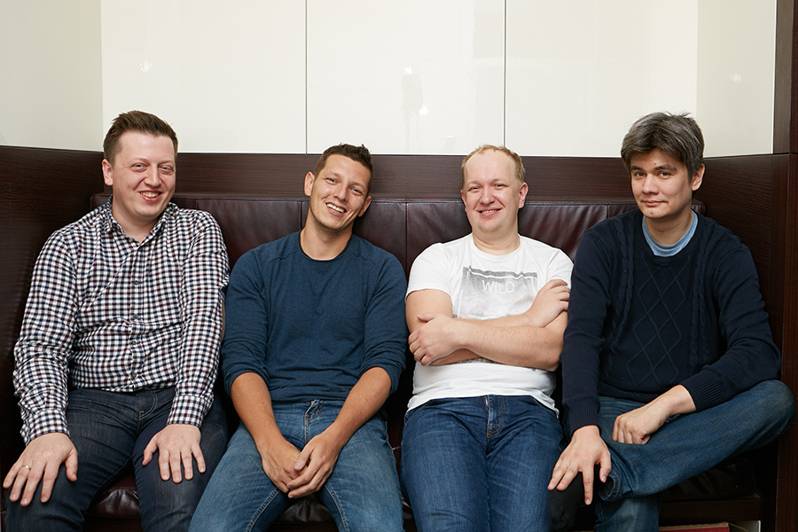 Матвей Калачев,Тимур Каримбаев, Дмитрий Останин, Марат Нигаметзянов(слева направо)