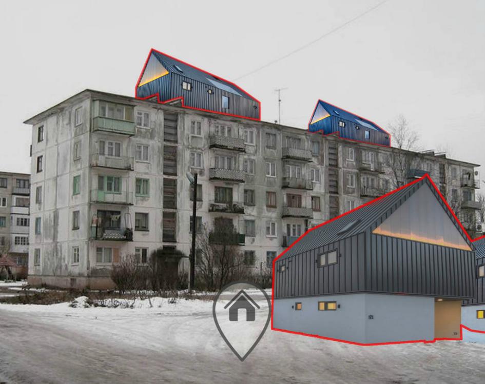 Проект преобразования панельной застройки в Невском районе Санкт-Петербурга. Проект«Старый, добрый, новый» команды Владимира Линова