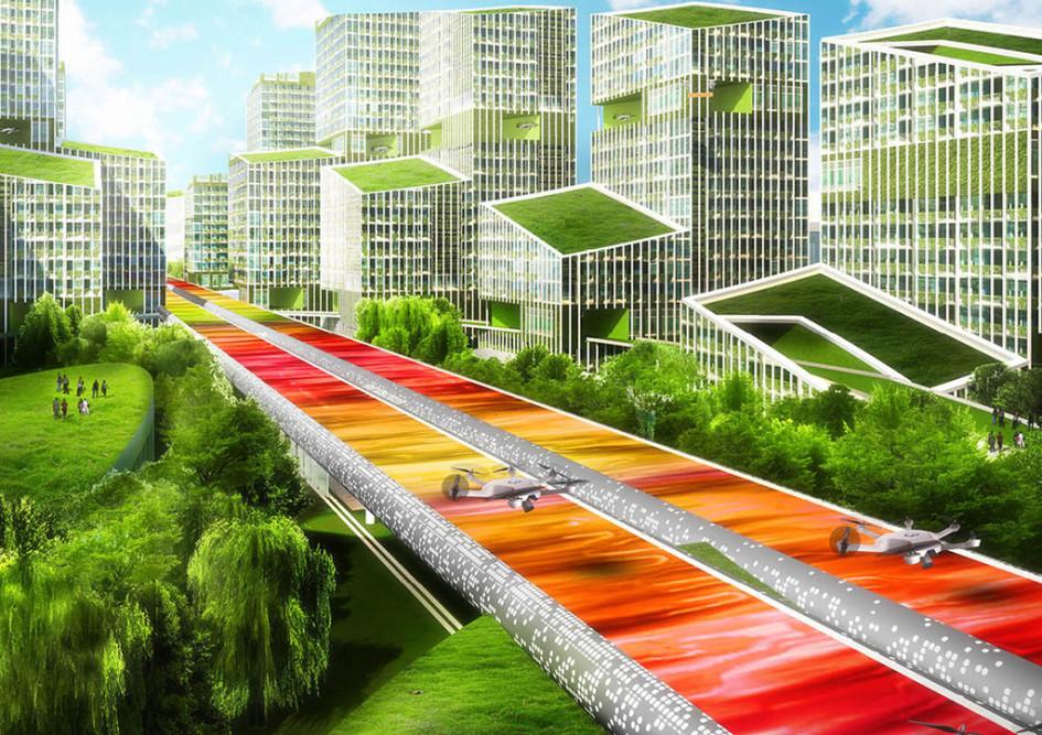 «Мы полагаем, чтотрадиционные автомобильные дороги являются устаревшими инеэффективными»,— говорится вописании проекта