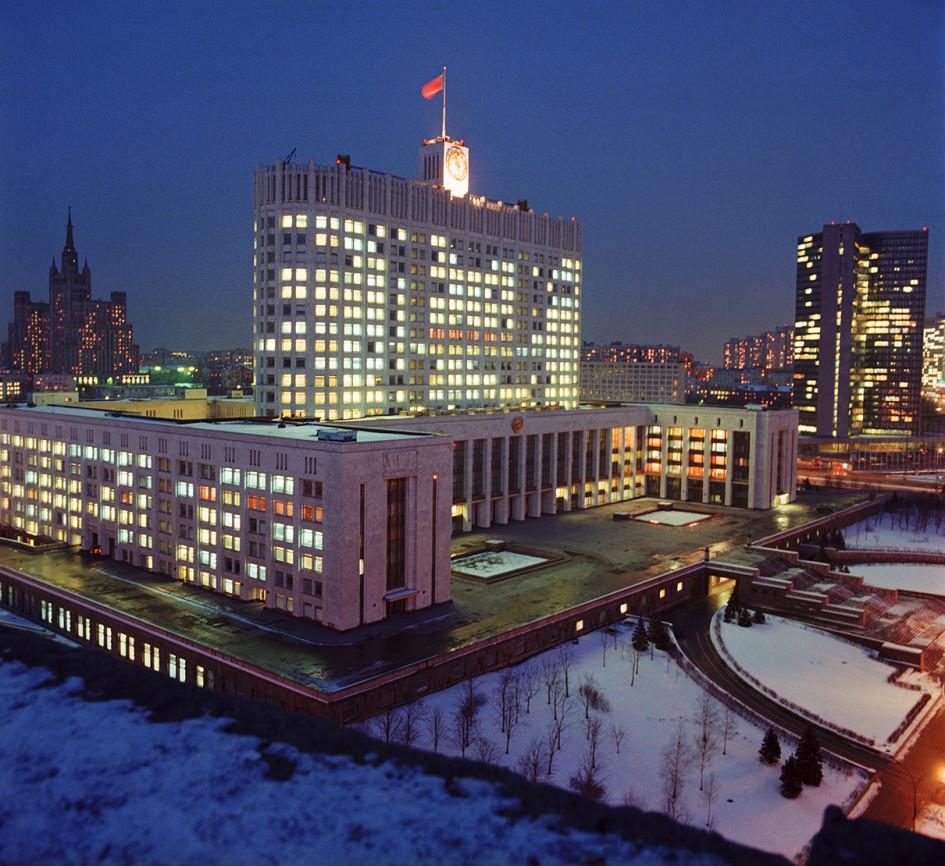 Здание Совета министров РСФСР в 1983 году