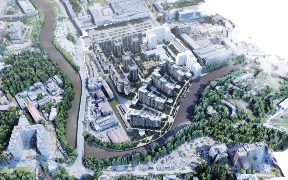 Новый масштабный проект Bonava расположен в Красногвардейском районе Санкт-Петербурга