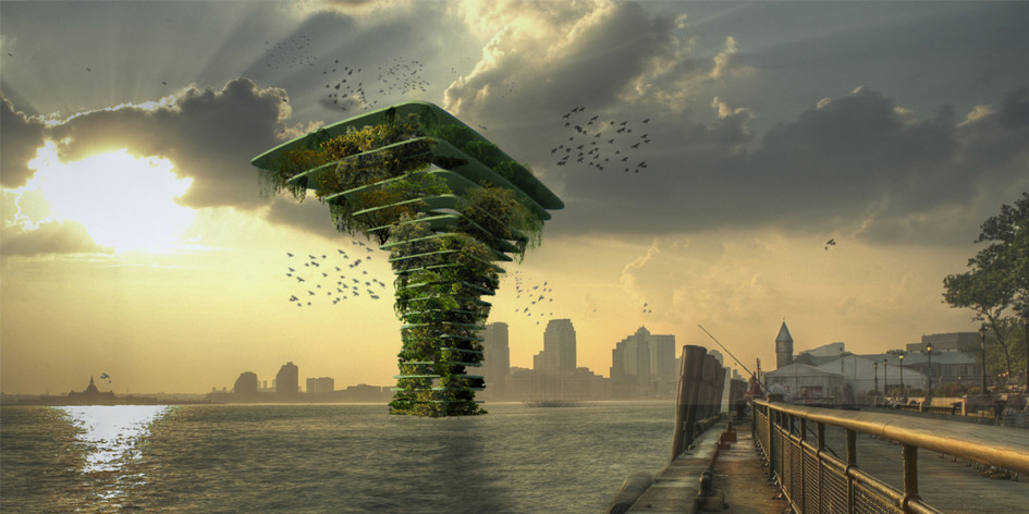 Нидерландская архитектурная компания Waterstudio разработала проект здания-ковчега под названием Sea Tree. Проект представляет собой искусственную среду обитания для растений и животных, которым грозит вымирание за его пределами