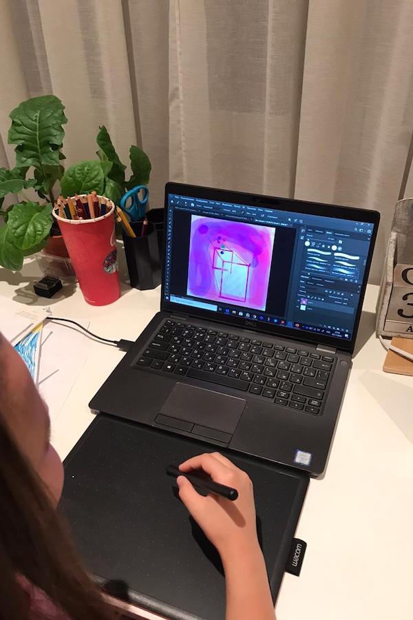 Домашнее занятие по цифровому рисунку