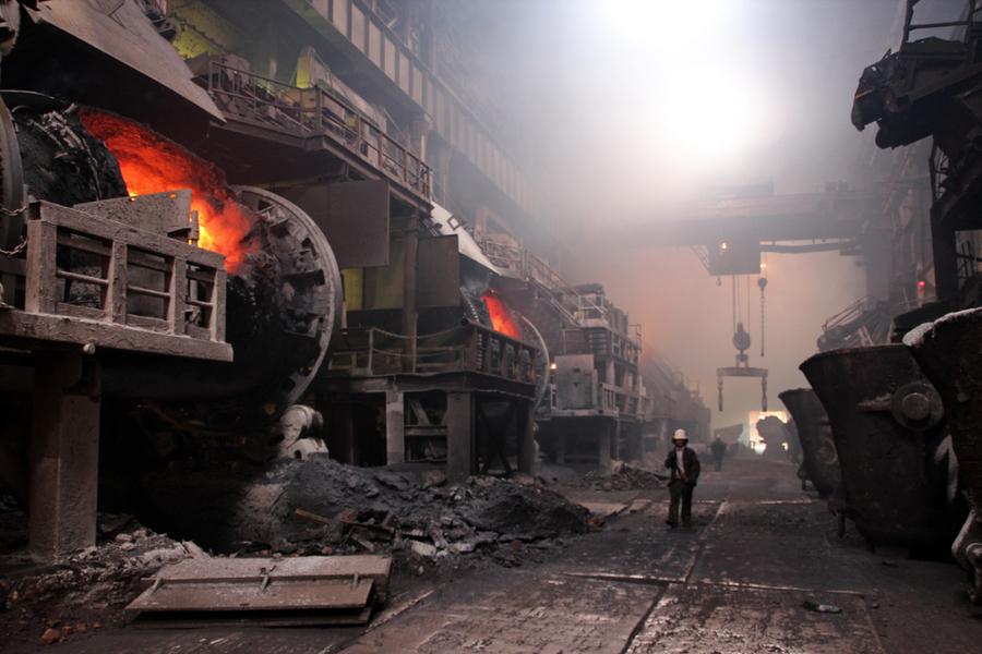 Заполярный филиал ГМК «Норильский никель». Медный завод, плавильный цех.