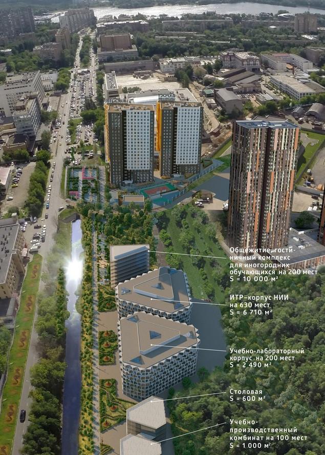 Схема застройки технопарка на берегу Головинского канала