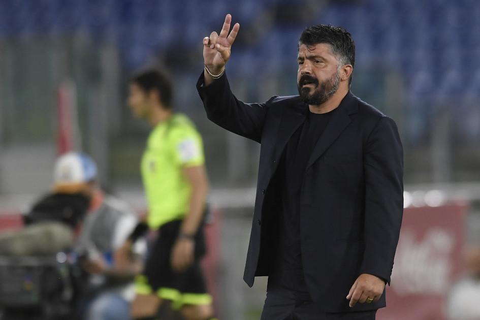 Главный тренер Дженнаро Гаттузо выиграл с «Наполи» трофей уже в 17-м матчево главе команды