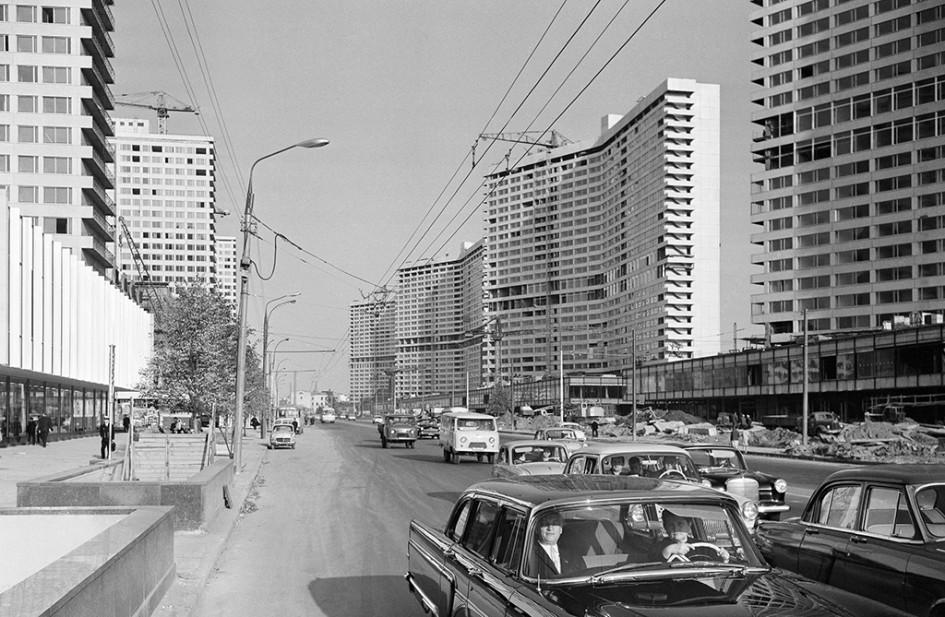 Виды Москвы. Проспект Калинина. 1967 год