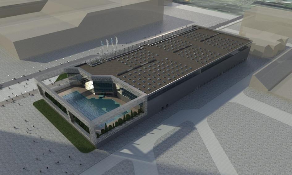 Здание Комплекса водного спорта объединит в себе первый в России Олимпийский центр синхронного плавания Анастасии Давыдовой и другие водные и оздоровительные площадки